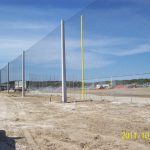 Baseball Field Netting Structure