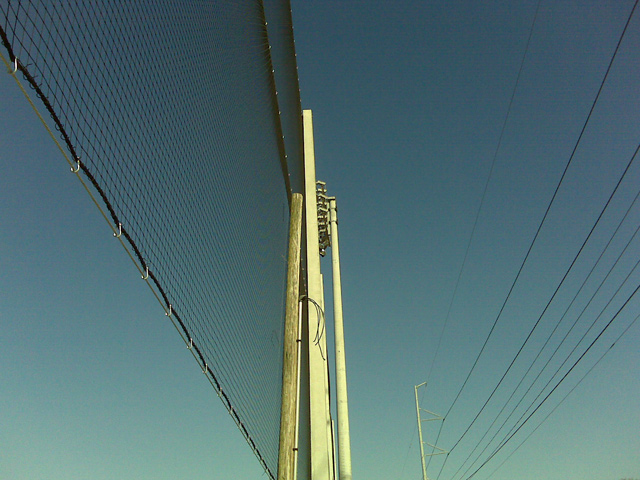 Concrete Pole Barriers : Baseball netting chamberlain hs hillsborough fl grn
