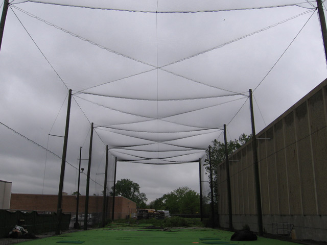 50' Enclosed Netting Structure