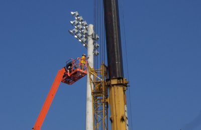 Sports Field Lighting Installation at University of Tampa