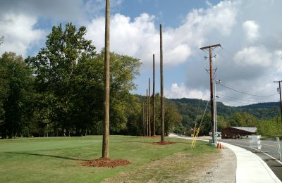 Perimeter Netting Support Poles