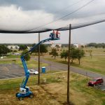 Installing Enclosed Drone Netting