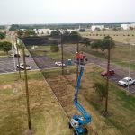 Overhead Rooftop Netting Estruture