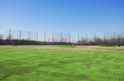 Practically invisible golf netting
