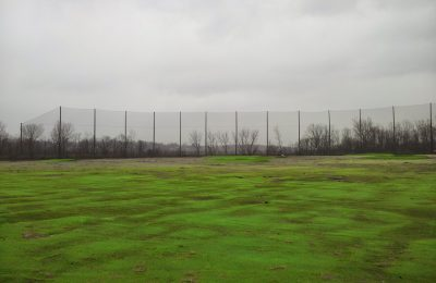 80' above grade golf barrier netting