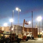Baseball Field Barrier Netting & Lighting Installation