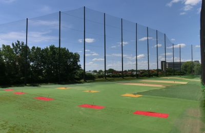 Finished Driving Range Netting Installation