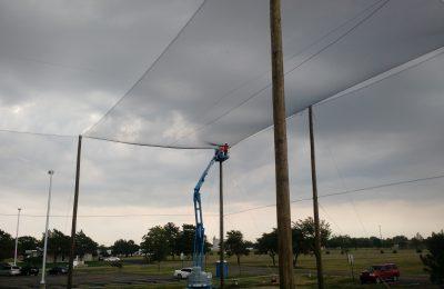 Overhead Netting Installation