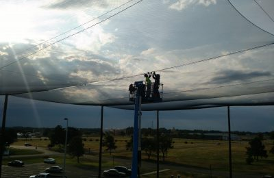 Rooftop Netting Install