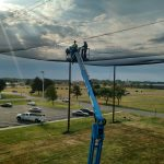 Roof of Netting Enclosure Installation
