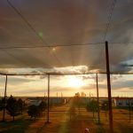 Kansas State Netting Enclosure Sunset View