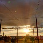 UAV Pavilion Sunset View
