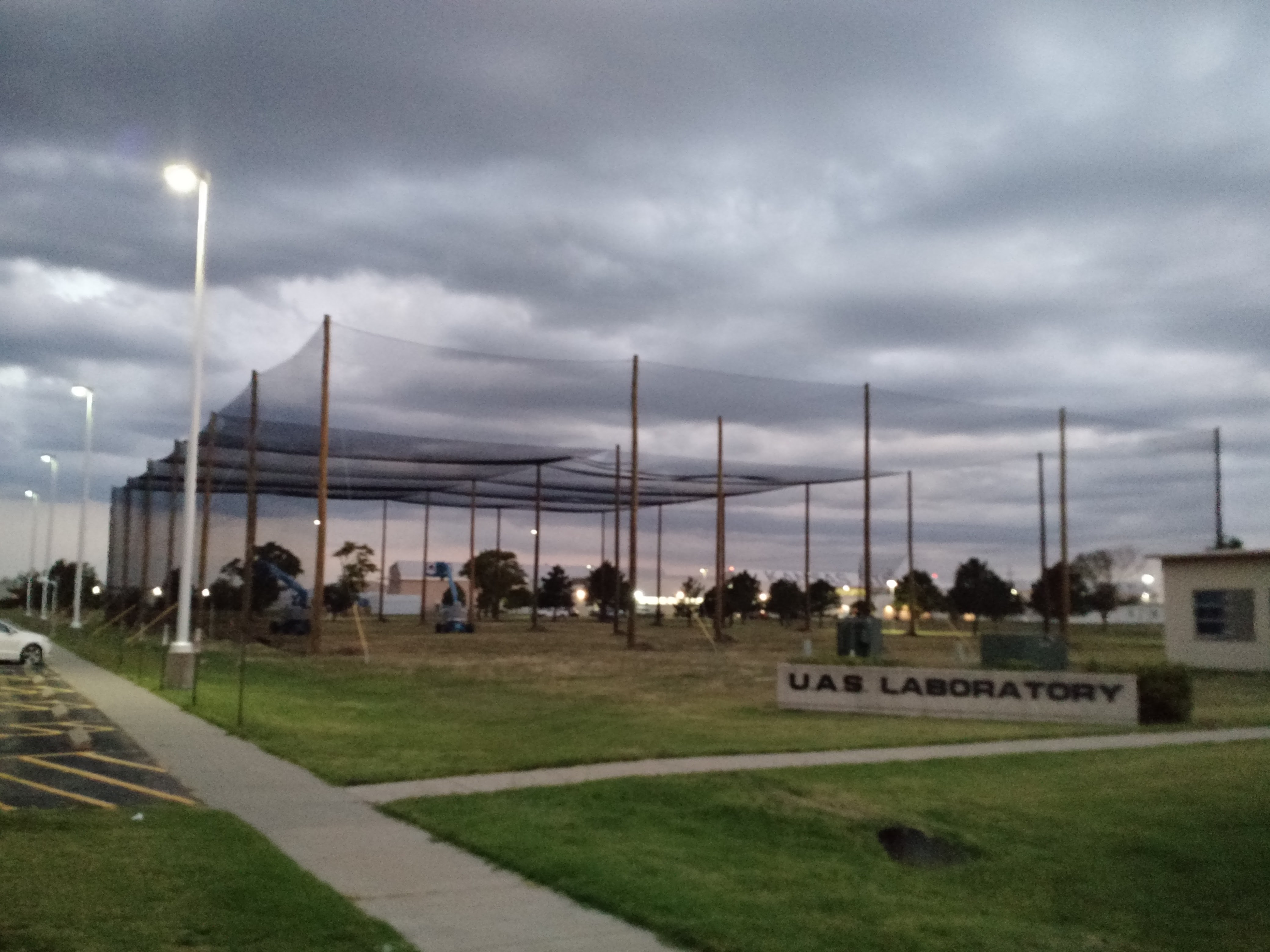 Uav Drone Enclosed Netting Structure K State University