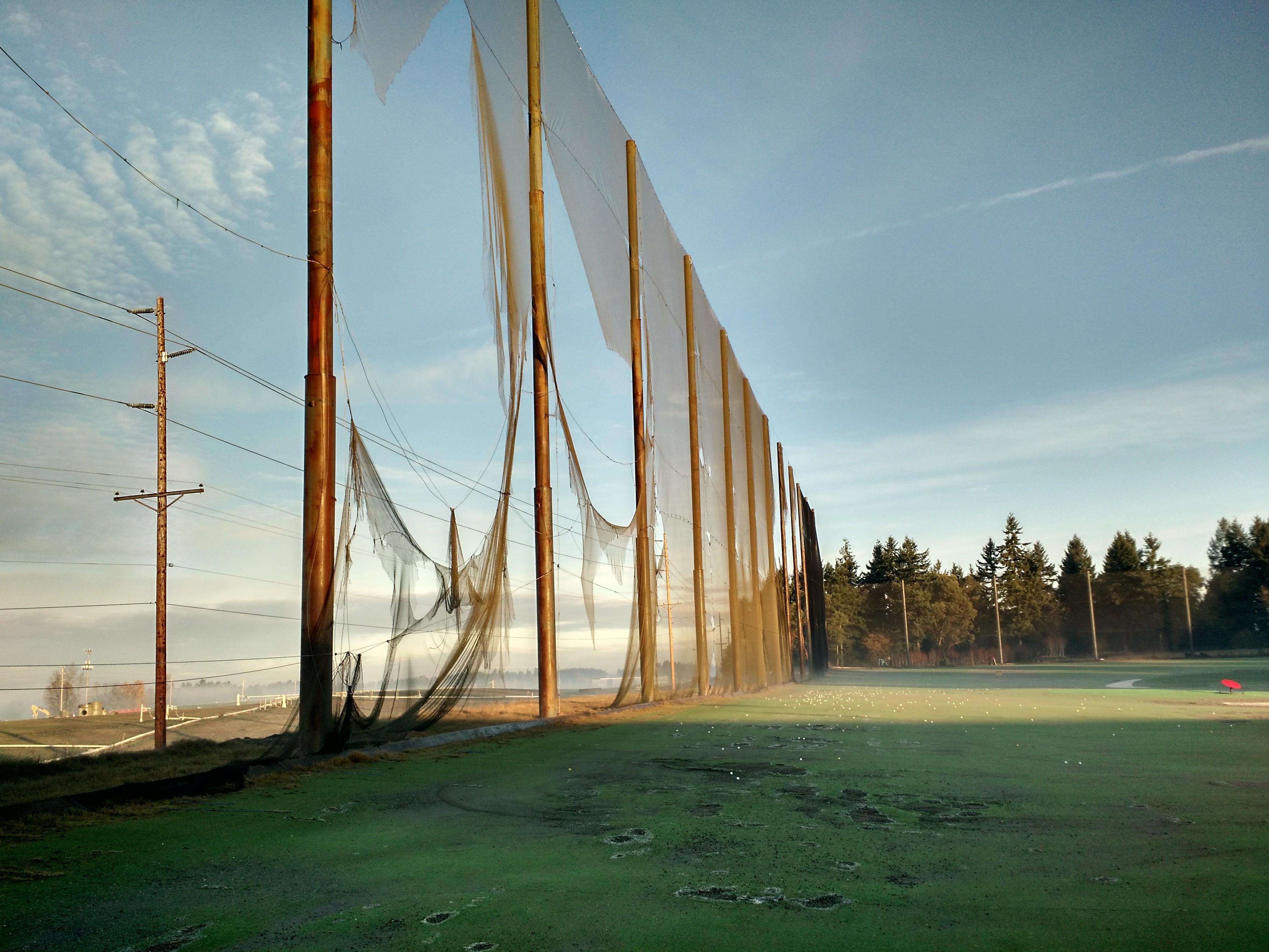 Weather Damaged Golf Netting
