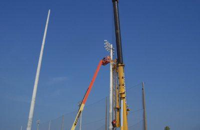 Baseball Lighting installation at University of Tampa