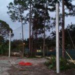 Steel Pole Baseball Netting Support