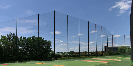 21Golf Driving Range Netting Installation