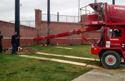 Barrier Netting Steel Pole Support