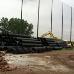 Golf Barrier Netting Installation