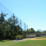 Wood Pole Netting Installation