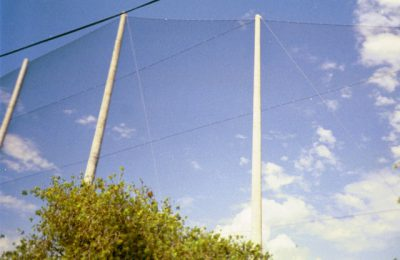 Angled Barrier Netting