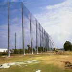 Golf Course Netting Installation