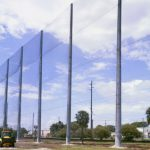 100' Angled Barrier Netting