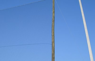 Baseball Netting on Wood Poles