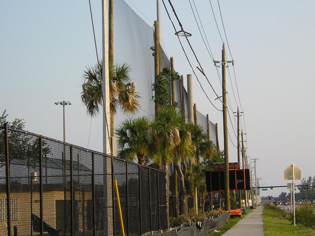 Retractable Baseball Netting. Baseball Field Netting. Traffic Protection  Netting