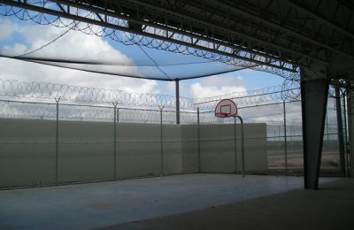 Contraband Netting Enclosure