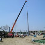 Custom Steel Support Pole Install