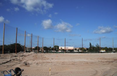 Sports Barrier Netting Installation