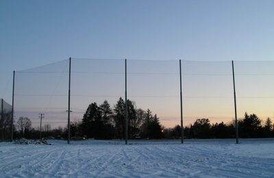 Invisible Sports Netting Barrier