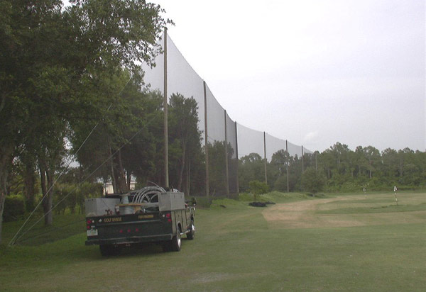 Tampa Palms Golf Netting Installation