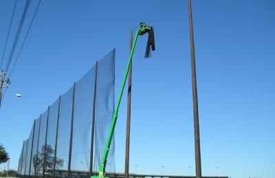 Golf Barrier Netting Installation for TopGolf Dallas