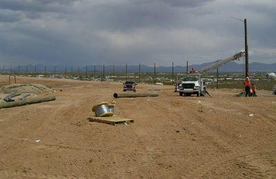 Landfill Netting Installation
