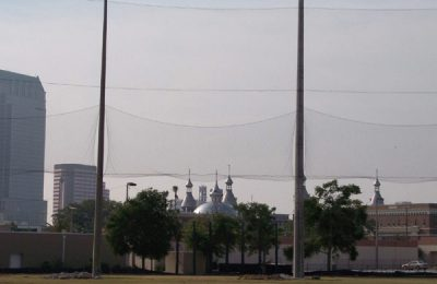 University of Tampa Baseball Barrier Netting Installation