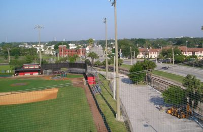 Baseball Field Netting Installation