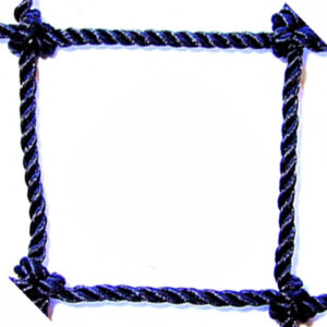 "#18 x 1"" Square Mesh Black Tarred Knotted Netting"