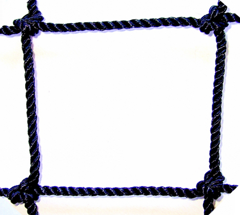 #36 1 3/4 SQUARE MESH BLACK BONDED KNOTTED NYLON