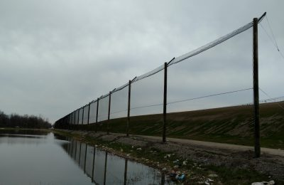Landfill Barrier Netting Installation done in Riverview Michigan