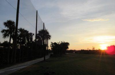 Golf Barrier Netting Installation