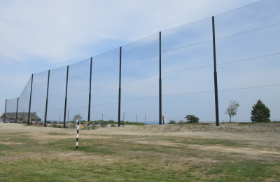 Completed range netting installation