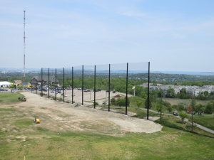 Steel poles installed at 85' above grade & 2 at 45' above grade