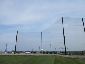 Golf Driving Range Netting Installation