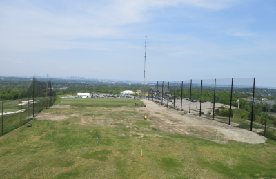 Granite Links Driving Range Netting & Steel Pole installation