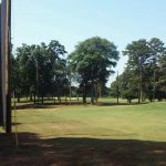 50' High Golf Netting Installation