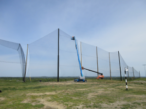Golf Netting Panel installation