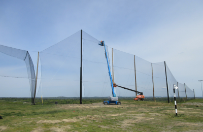Golf Netting Panel installation