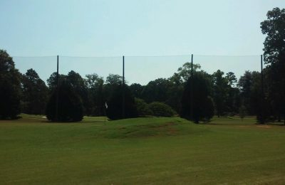Double Gate Country Club Driving Range Netting Installation